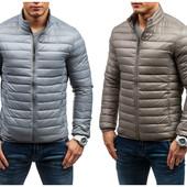 Легкая демисезонная мужская куртка пуховик натуральный