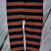 9 - 12 месяцев 80 см Яркие модные фирменные легинсы лосины девочке Next Некст