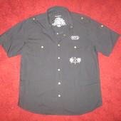 ♥ Рубашка Biaggini. Черная , L ♥ См. замеры.