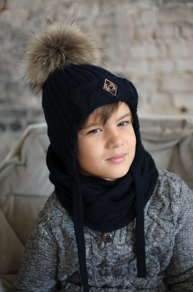 Зимние шапки для мальчиков и парней с завязками и без завязок фото №1