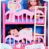 Две куклы Еви с кроваткой от Simba