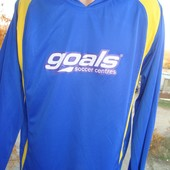 Фірмова футболка довгий рукав .Жовто-блакитна .