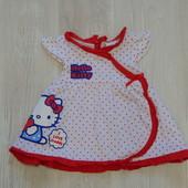 Яркое легкое платьице Sanrio для маленькой принцессы, размер 3-6 месяцев, состояние новой вещи.