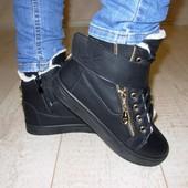 Ботинки зимние черные С359 р.36.38.41