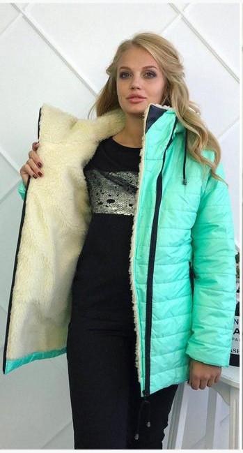 Зимняя куртка на овчине обмен 44,46.48.50.52.54р фото №3