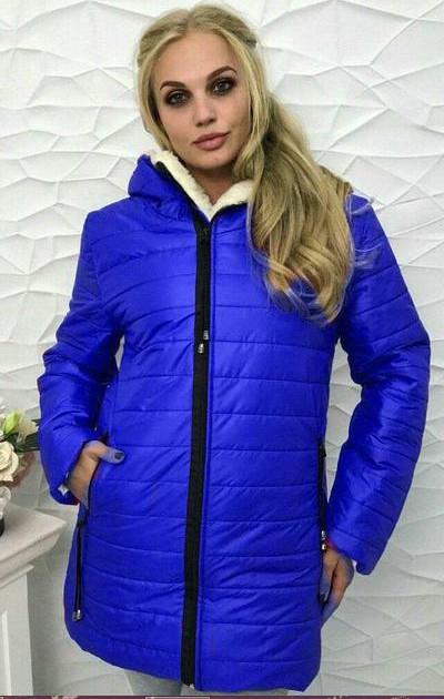 Зимняя куртка на овчине обмен 44,46.48.50.52.54р фото №2