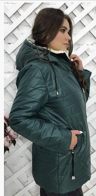 Зимняя куртка на овчине обмен 44,46.48.50.52.54р фото №5