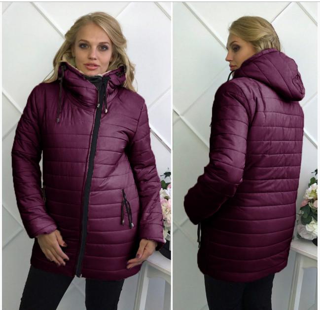 Зимняя куртка на овчине обмен ,46.48.50.52.54р фото №1