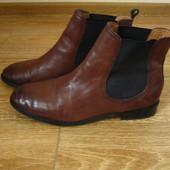 Zara р.41 жіночі напівчобітки ботинки челсі шкіра
