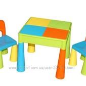 Cтол и стульчик Tega mamut Польша с подставкой под Lego