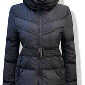 Женская куртка пуховик стёганый чёрный