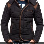 Мужская зимняя стёганая куртка пуховик