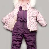 Акция Зимний детский костюм-комбинезон Bubble pink дешевле нет