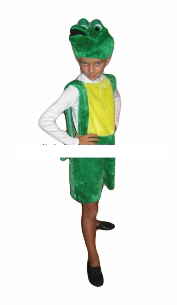 Карнавальный костюм крокодил гена (возраст 3-5 лет) фото №1