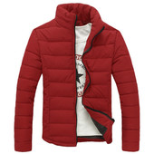 Дутая зимняя куртка без капюшона, 3 цвета