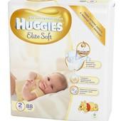 Низкая цена Подгузники Huggies Elite Soft все размеры