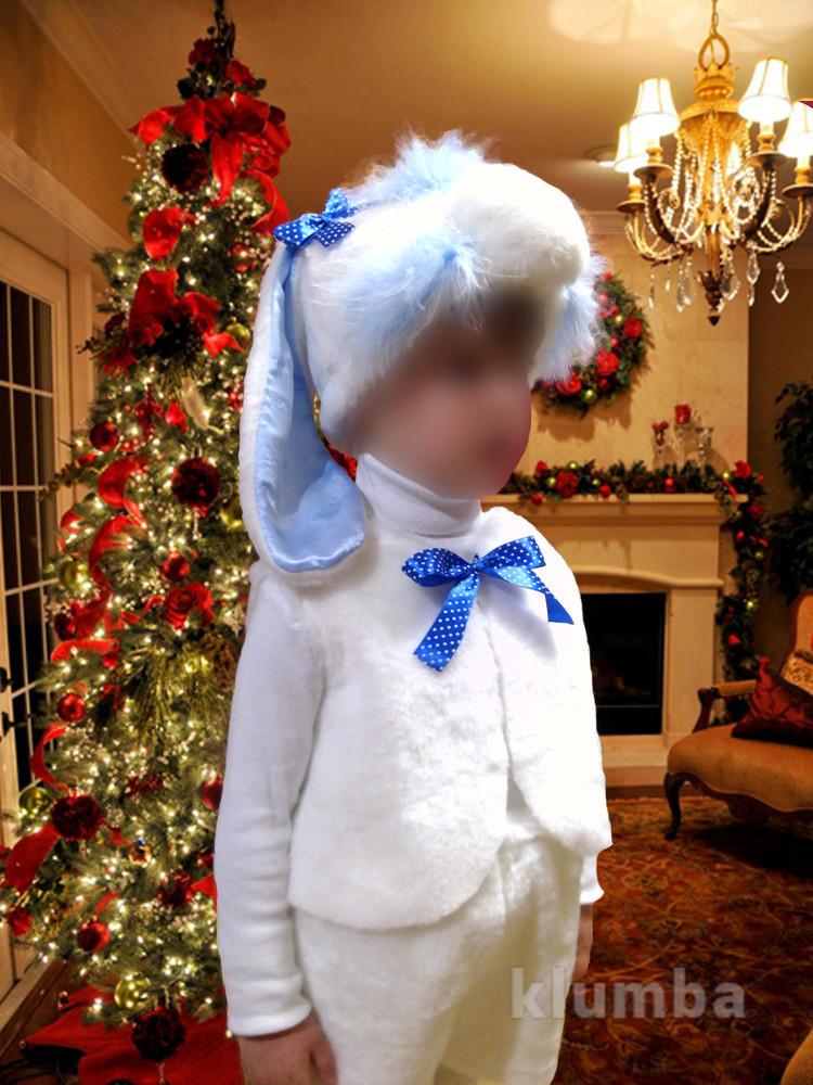 Новогодний костюм зайчика для мальчика фото №1