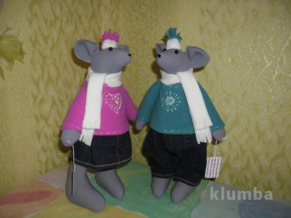 Мягкие игрушки мышки в зимней одёжке фото №1