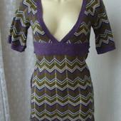 Платье теплое вязаное мини бренд Clockhouse р.40-42  №4146