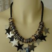 Ожерелье женское колье модное металл ювелирная бижутерия №4161