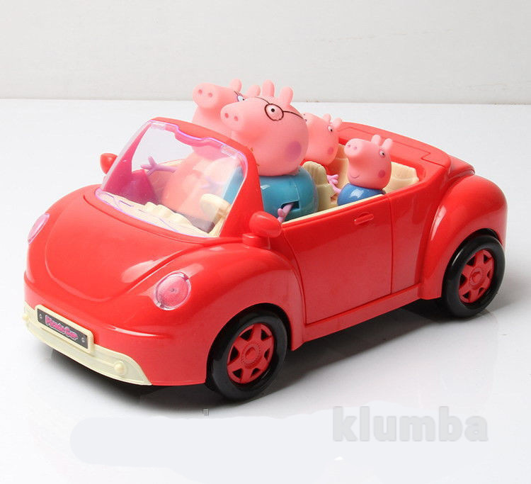 Свинка пеппа синяя машина новая