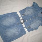 Джинсовое платье на 6-7 лет