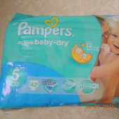 Pampers Aсtive Baby №5.В упаковке 42шт.УП+15грн
