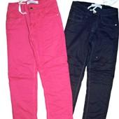 Распродажа!!!!Коттоновые брюки на флисе для девочек 116, 140, 146, Seagull