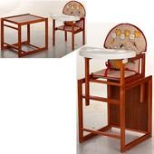 Виваст Бегемотик MV 100 стульчик для кормления трансформер Vivast деревяный столик