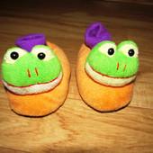 Теплые домашние тапочки-жабки 15см