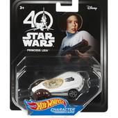 Hot Wheels Star Wars character cars 40th new hope princess Leia vehicle