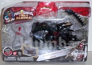 Зорд - скорпион с фигуркой декера серии рейнджеры - самураи 31773 bandai фото №1