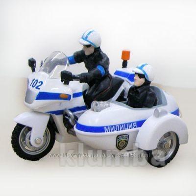 Автомодель-мотоцикл (свет, озвуч укр яз) в нетоварной упаковке фото №1