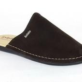 100-VN-D1-043 ,   Тапочки мужские домашние, Inblu Инблу материал - замша, цвет - коричневый