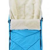Зимний конверт-трансформер на овчине для коляски, саней