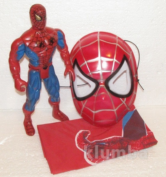 Набор костюм человек паук спайдермен плащ маска фигурка фото №1