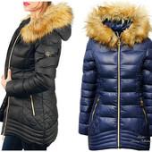Женская зимняя теплая куртка пуховик(холлофайбер)