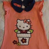 продам тунику Hello Kitty девочке 3-4года 100%хлопок
