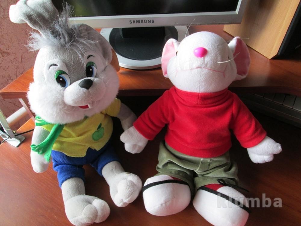 Качественные мягкие игрушки: зайчик музыкальный и стюарт литлльный и 0 фото №1