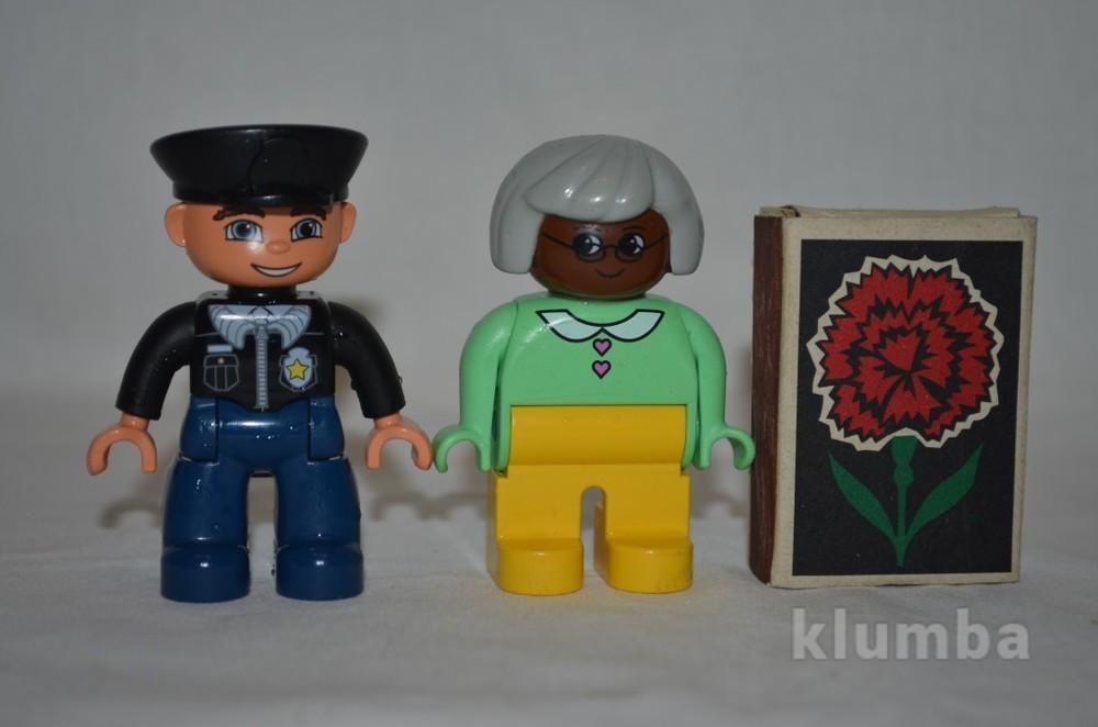 Разные фигурки для разных наборов lego duplo лего дупло бабушка полицейский фото №1