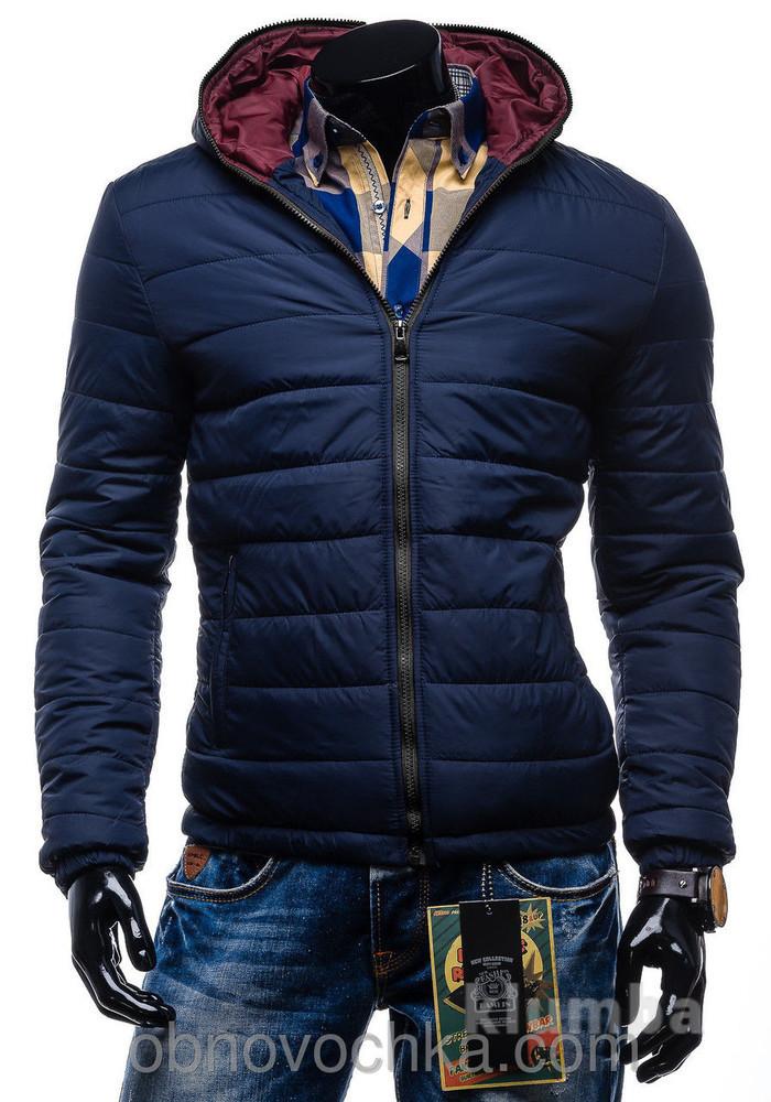 Стильная мужская куртка джордж, темно-синяя фото №1