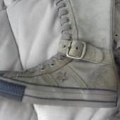 Продам сапоги Converse на девушку 37 размер,кожа, в идеале