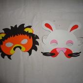 Новогодние маски лёва лев зайчик на утренник