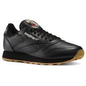 Мужские кроссовки Reebok Classic Leather - черные