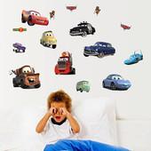 Интерьерная наклейка на стены в детскую Тачки