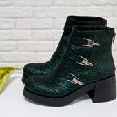 Натуральные стильные ботинки осень-зима( 1668),р-ры 36-41,любой цвет!