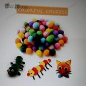 Плюшевые помпоны для детского творчества, 5 размеров