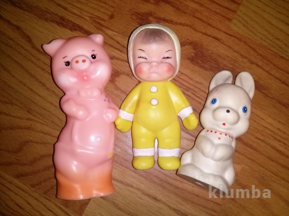 Мягкие резиновые игрушки пищалки фото №1
