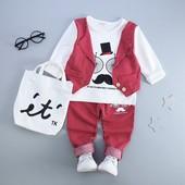 Нарядный костюм для мальчика кофта + штаны Китай