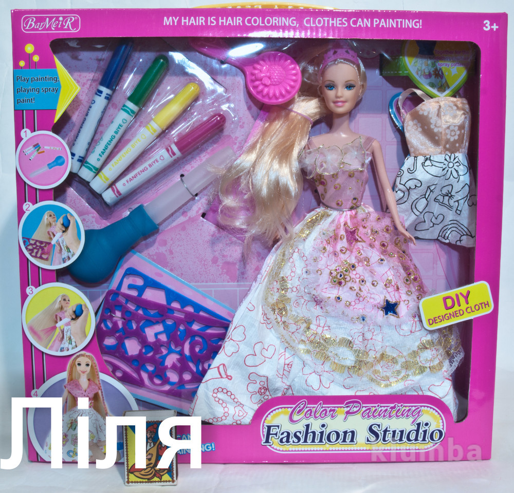 Кукла с набором для окрашивания волос.новинка! фото №1